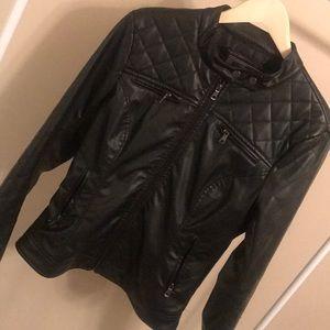 Ci Sono Black Faux Leather Jacket - Size Large